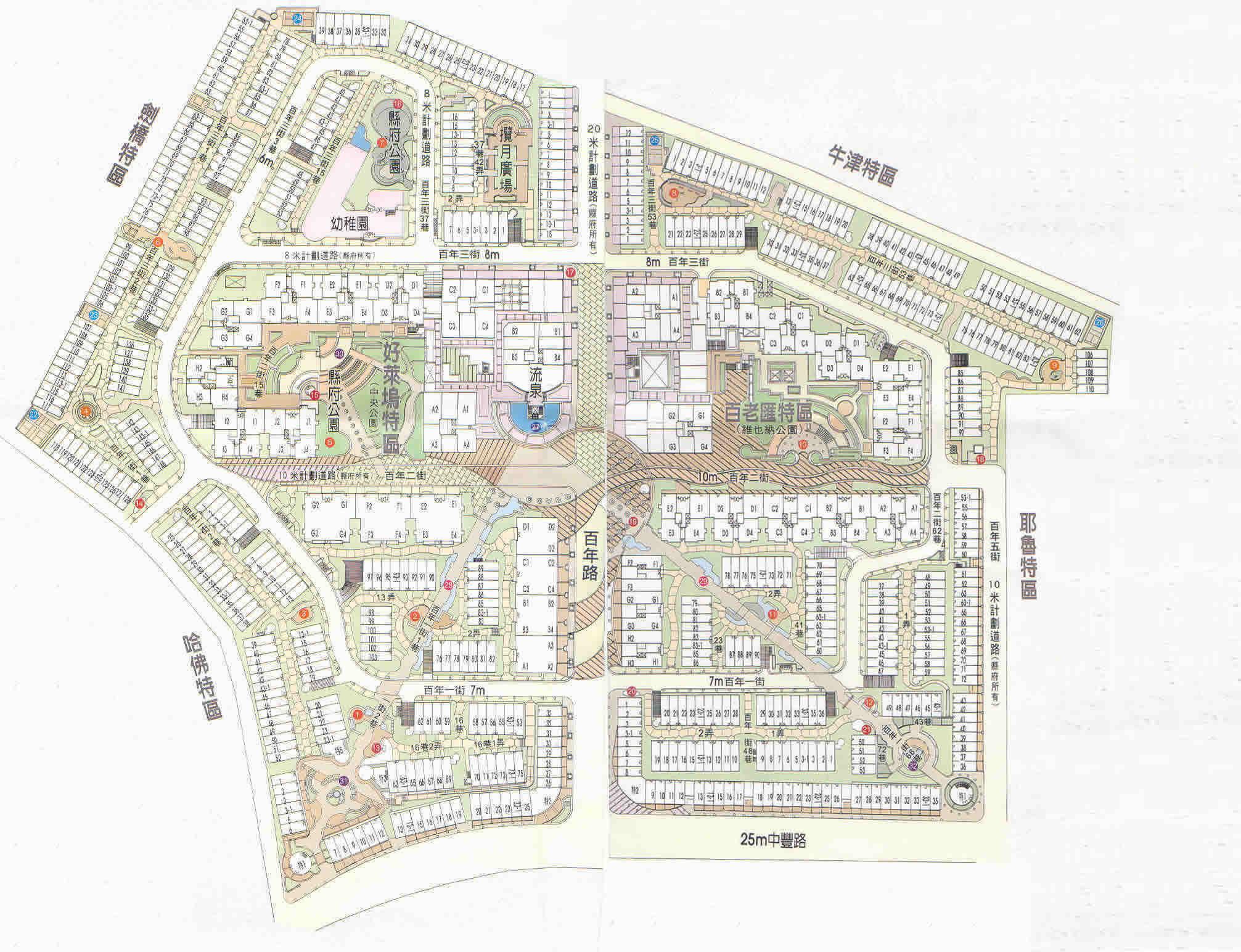 百年大鎮社區平面圖